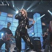 Jeanette Biedermann Rockin On Heavens Floor Live Black Vinyl Catsuit Video