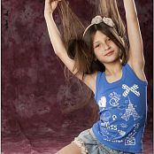 TeenModelingTV Yulya Denim Mini Blue Tank PIcture Set