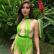 Angie Narango Green String Top & Thong TCG HD Video 002