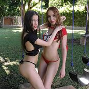 Britney Mazo & Mellany Mazo Thongs & Torn Tees Group 2 TBS 4K UHD & HD Video 002