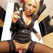 Daynia Anal And Piss Clean Up In Black Latex Outfit HD Video