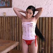 Dulce Garcia Red Thong & Top With Holes TCG 4K UHD & HD Video 004