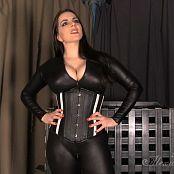 Goddess Alexandra Snow Black Spandex & Corset JOI HD Video