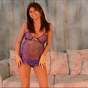 Halee Model Silver & Purple Sheer Nighty Video
