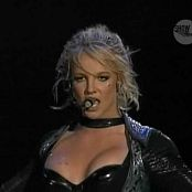 Britney Spears Gorgeous Blonde & Black Latex On Onyx Tour Video