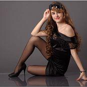 TeenModelingTV Yuliya Black Dress Picture Set