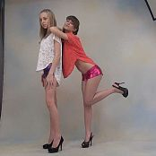TeenModelingTV Anastasia & Yuliya Hotpants Photoshoot HD Video
