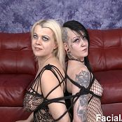 2 Disgusting Whores Throat Fucked & Destroyed HD Video