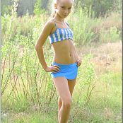 TeenModelingTV Alice Blue Stripes Picture Set