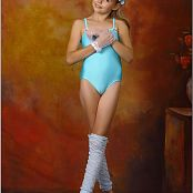 TeenModelingTV Angelica Blue Leotard Picture Set