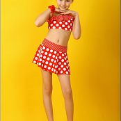 TeenModelingTV Angelica Polka Dot Outfit Picture Set