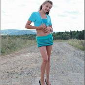 TeenModelingTV Beatrice Blue Skirt Picture Set