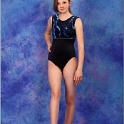 TeenModelingTV Bella Blue Wave Leotard Picture Set