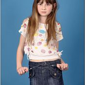 TeenModelingTV Bella Denim Skirt Picture Set