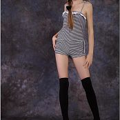TeenModelingTV Bella Striped Jumper Picture Set