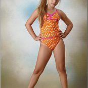 TeenModelingTV Khloe Orange Swimsuit Picture Set
