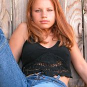 TeenModelingTV Sveta Black Butterfly Shirt Picture Set