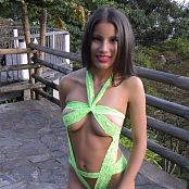 Britney Mazo Green Ribbon Outfit TBS 4K UHD & HD Video 027