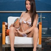 Britney Mazo White Thong & Ribbons TBS Picture Set 025