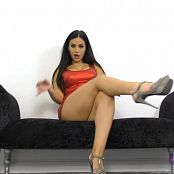 Goddess Jasmine Red Shiny Dress JOI HD Video