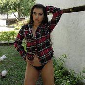 Sofia Sweety Plaid Shirt & Black Thong NSS 4K UHD & HD Video 025