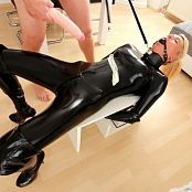 Daynia Hogtied In Black Latex Anal & Piss Drink Fuck HD Video