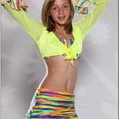 TeenModelingTV Alizee Rainbow Skirt Picture Set