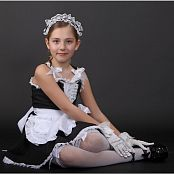 TeenModelingTV Alissa Black & White Maid Picture Set
