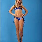 TeenModelingTV Alissa Blue Scrunch Bikini Picture Set