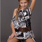 TeenModelingTV Alissa Graphic Dress Picture Set