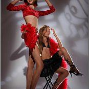 TeenModelingTV Alizee & Victoria Black High Heels Picture Set