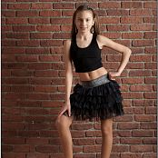 TeenModelingTV Arina Black Skirt Picture Set