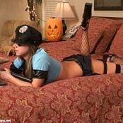 Katies World Halloween Cop Girl Cosplay Backdoor Camshow Video