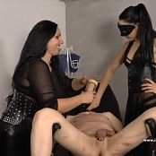 Mistress Gaia & Ezada Sinn Impotent Slave Tormented With The Milking Machine HD Video