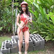 Natalia Marin Red T-Back TM4B HD Video 011