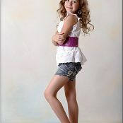 TeenModelingTV Alissa Denim Shorts Picture Set