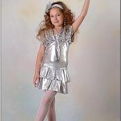 TeenModelingTV Alissa Silver Dress Picture Set