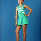 TeenModelingTV Alissa Teal Striped Mini Picture Set