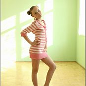TeenModelingTV Alice Peach Striped Mini Picture Set