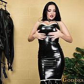 Goddess Alexandra Snow Glossy Rubber Jerk HD Video