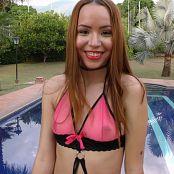 Mellany Mazo Pink Top Bikini TBS 4K UHD & HD Video 049