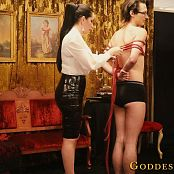 Goddess Alexandra Snow Red Rope Hogtie Photoshoot HD Video