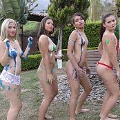 Sofia Sweety Tammy Molina Kim Martinez & Poli Molina Body Paint NSS 4K UHD & HD Video 066