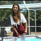 Christina Model Plaid Schoolgirl Dance Tease Video