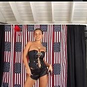 Christina Model Shiny Black Boots Dance Tease Video