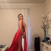 Kalee Carroll Red Dress HD Video 405