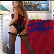 Christina Model Red Corset & Black Stockings Dance Tease Video