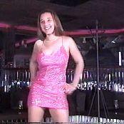Christina Model Pink Glitter Mini Dress Video