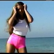 Christina Model Hot Pink On The Beach Video