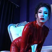 Goddess Tangent Red latex Worship HD Video